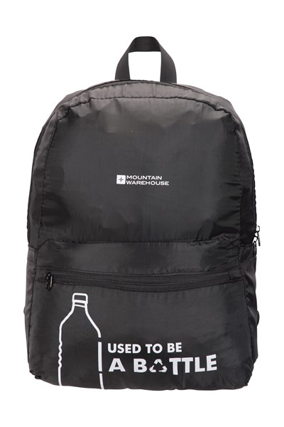 Recycled Polyester Packaway Backpack - 25L - Black