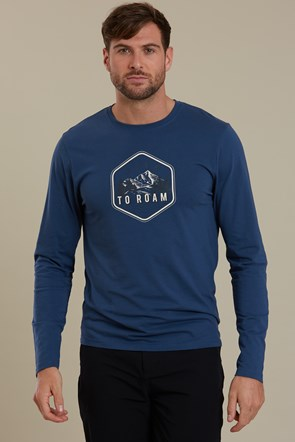Born To Roam Long Sleeved Mens Tee