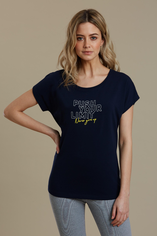 Push Your Limits - koszulka damska - Navy