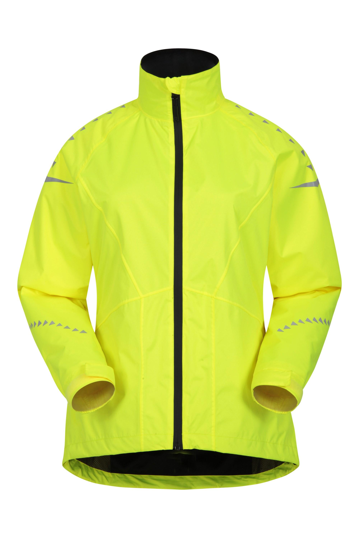 Mountain Warehouse Ultra-Vis Wasserdichte Damen Fahrrad-Jacke –  | 05057634533553