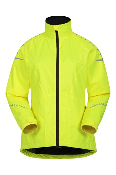 Ultra-Vis Womens Waterproof Bike Jacket - Yellow