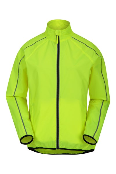 Packaway Lightweight Womens Running Jacket - Yellow