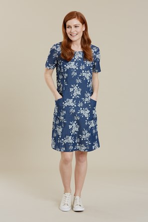 Flora Womens Lightweight Printed Dress