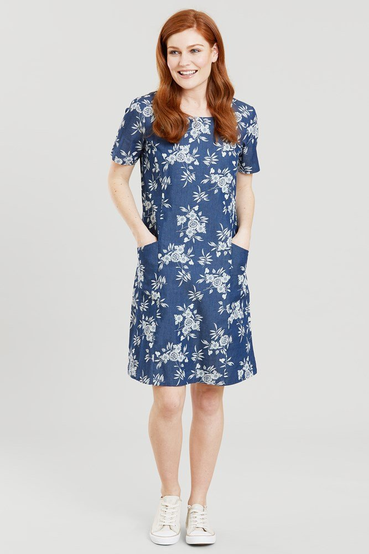 Flora - sukienka damska - Blue