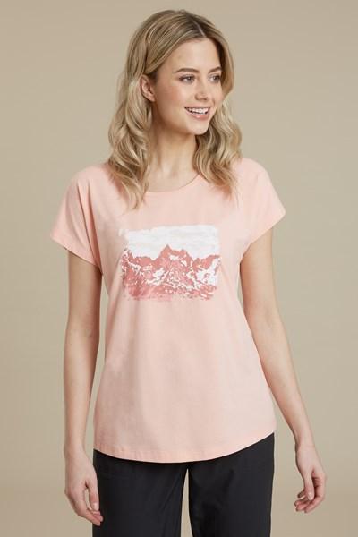 Wander Often Printed Womens T-Shirt - Pink