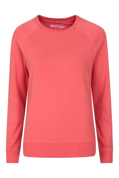 Crew Neck Womens Sweatshirt - Pink