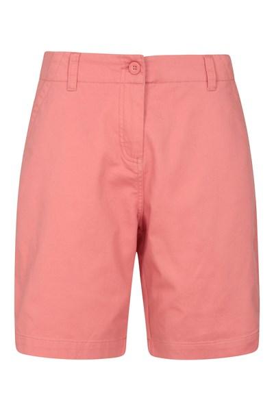 Stretch Womens Cotton Shorts - Pink