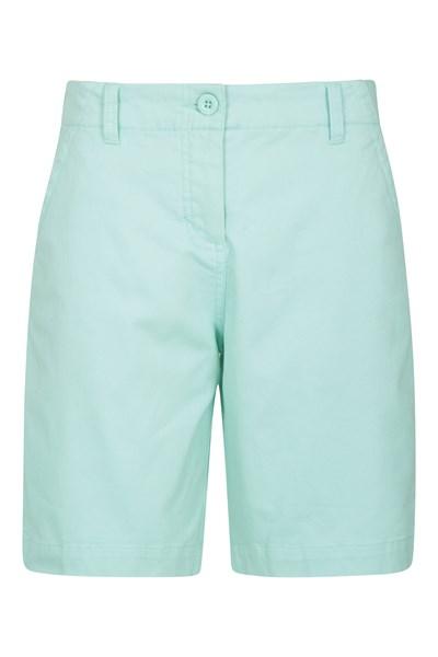 Stretch Womens Cotton Shorts - Green