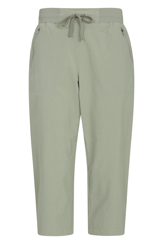 Explorer - spodnie damskie capri - Green