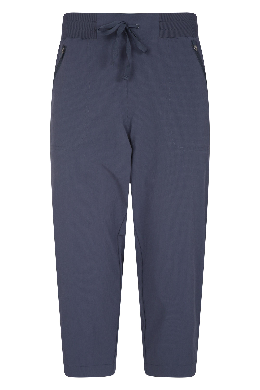 Explorer - spodnie damskie capri - Navy