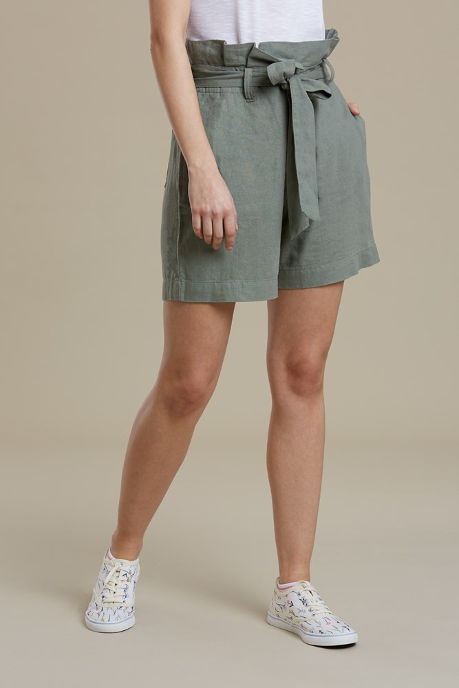 Mountain Warehouse Wms Linen Rich Paperbag Waist Short Casual Shorts