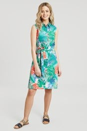 Vienna Womens Printed Shirt Dress