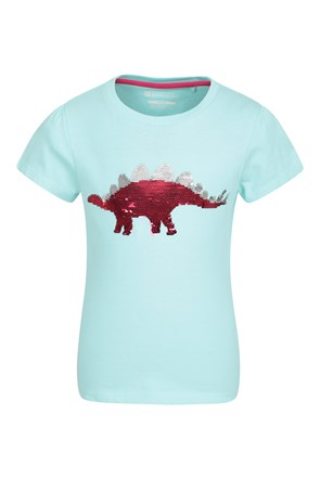 035345 SEQUIN DINOSAUR KIDS TEE