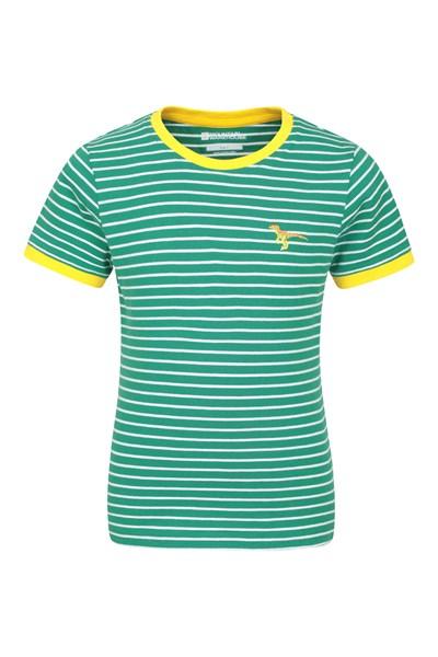 Stripe Kids T-Shirt - Green