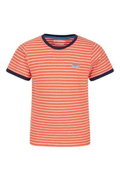 Stripe Kids T-Shirt - Orange
