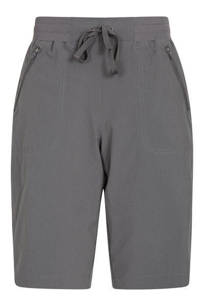 Explorer Womens Long Shorts - Grey