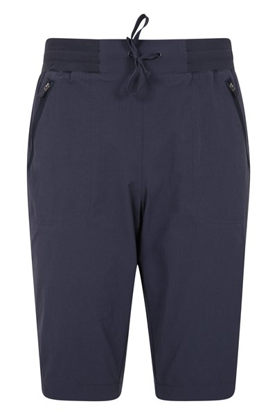 Explorer Womens Long Shorts - Navy