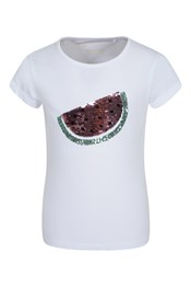 Sequin Watermelon Kids T-Shirt