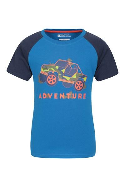 Adventure Jeep Kids T-Shirt - Blue