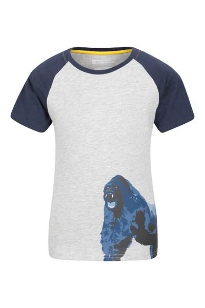 Gorilla Roar Kids T-Shirt - Grey