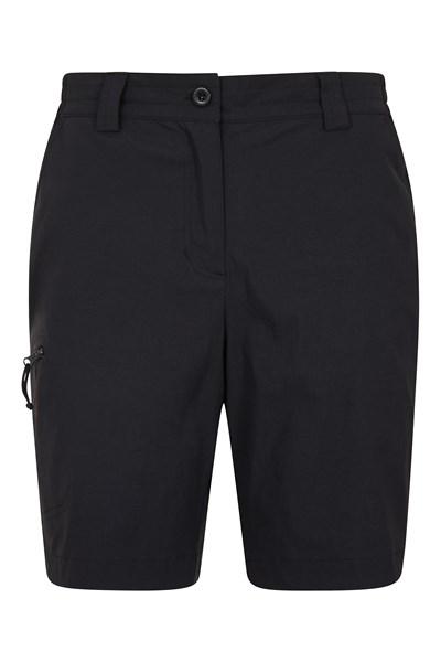 Hiker Stretch Womens Shorts - Black