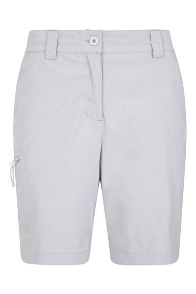 Hiker Stretch Womens Shorts - Grey