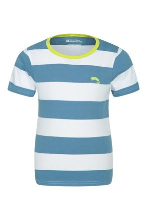 Block Stripe Kids Tee