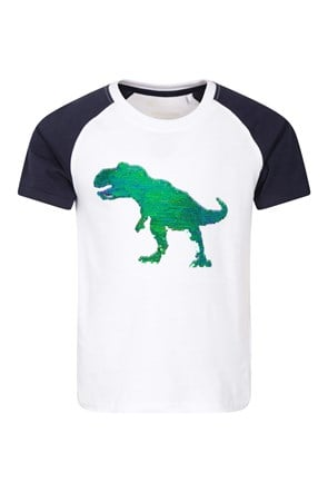 T-Shirt Sequin Enfant Dinosaure