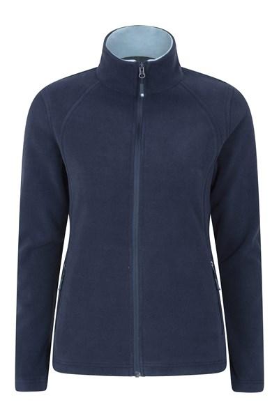 Sky Womens Full-Zip Fleece Jacket - Navy