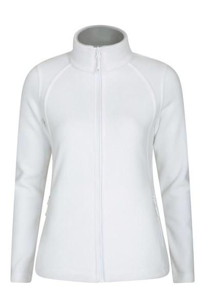 Sky Womens Full-Zip Fleece Jacket - White