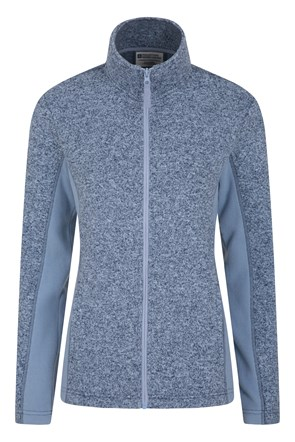 Idris Womens Panelled Full-Zip Fleece