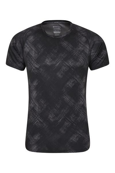 Swift Printed Mens Isocool T-Shirt - Black