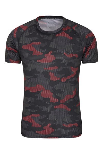Swift Printed Mens Isocool T-Shirt - Green