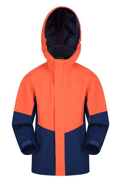 Meteor Kids Waterproof Jacket - Orange
