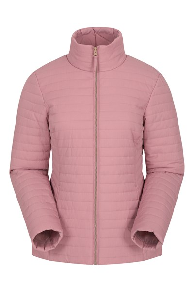 Textured Womens Padded Jacket - Pink