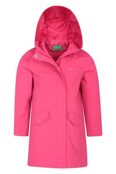 Orbit Kids Longline Waterproof Jacket - Pink