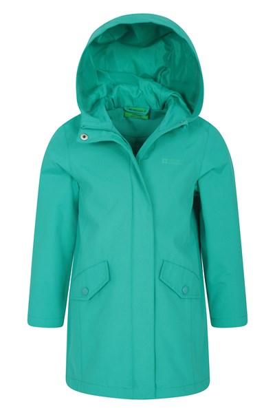 Orbit Kids Longline Waterproof Jacket - Teal