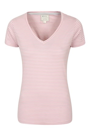 Vancouver Womens V-Neck Stripe Tee