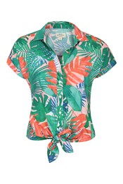 Tropical Printed Womens Shirt