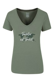 Traveller Not Tourist Printed Womens Tee