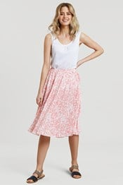 Madrid Womens Woven Pleated Skirt