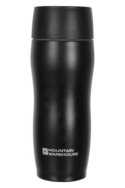 450ml Click-Button Travel Cup - Black