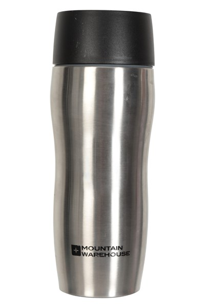 450ml Click-Button Travel Cup - Silver