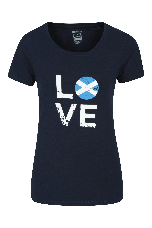 Love Scotland - koszulka damska - Navy