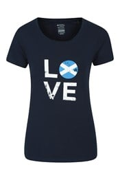 Love Scotland Printed Womens T-Shirt
