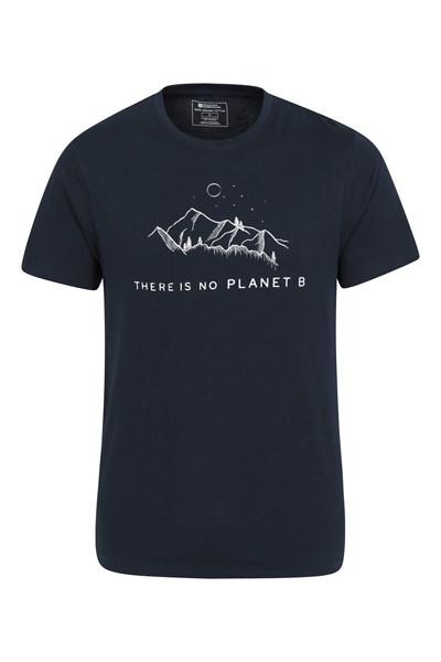 No Planet B Organic Cotton Mens T-Shirt - Navy