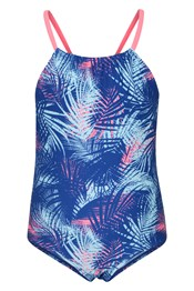 Palm Print Kids Swimsuit