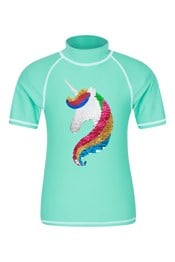 Sequin Unicorn Kids Rash Vest