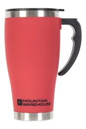 Rubber Feel Travel Mug with Handle - 420ml