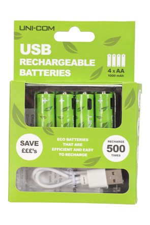 USB Rechargeable Batteries 4 x AA